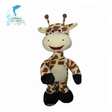 Soft brown mini plush stuffed dancing milking cow