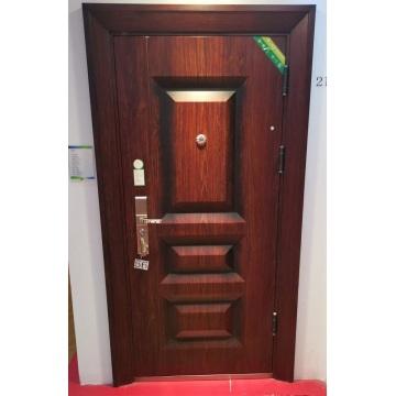 Design der externen Sicherheitstür aus massivem Holz