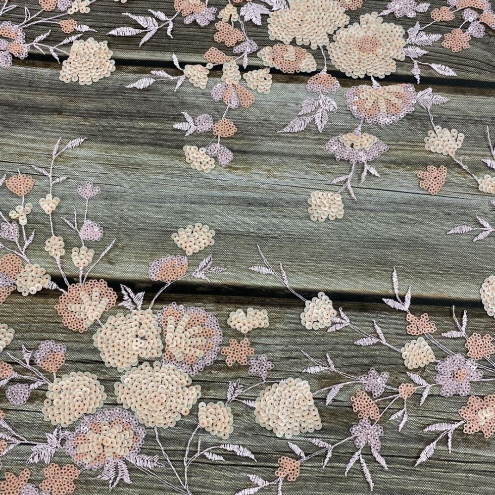 Dull Sequin Embroidery Fabric