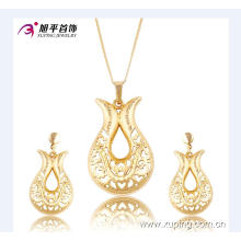 Xuping luxo Dubai conjunto de jóias de ouro com design de jóias de casamento 63670