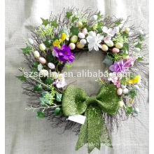Couronnes de rose de soie, suspension de porte de couronnes, couronne de mariage en fleurs de soie
