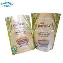 1lb 450g plástico impressão personalizada comida kraft ziplock impresso clara janela saco de papel