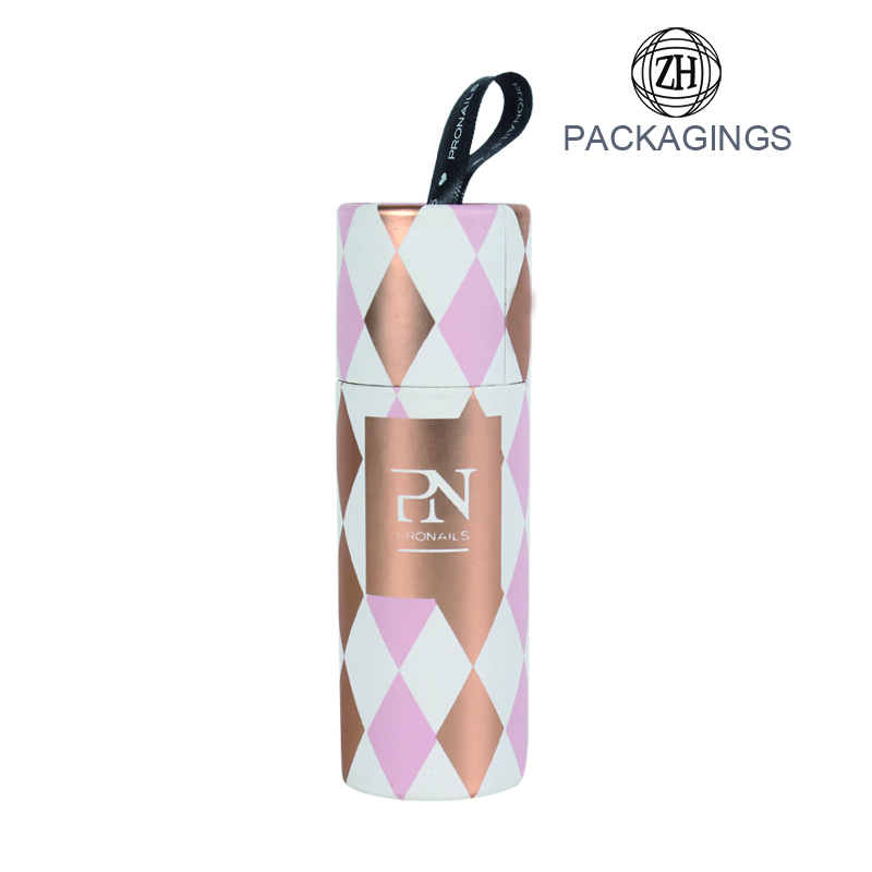 Customized logo stamping paper perfume packaging tube