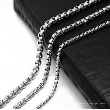 Collar de cadena de eslabones para hombres Acero de titanio 2.5mm 3.5mm 4.5mm