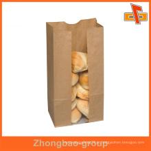 Reciclados atacado CPP / PE kraft papel padaria embalagem saco com logotipo do cliente