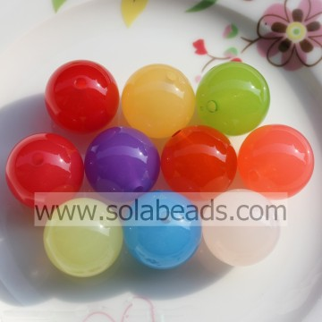Transparent 12mm Colors Round Pony Beads