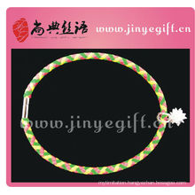 Shandian Handmade Zircon Colored Leather Craft Necklaces