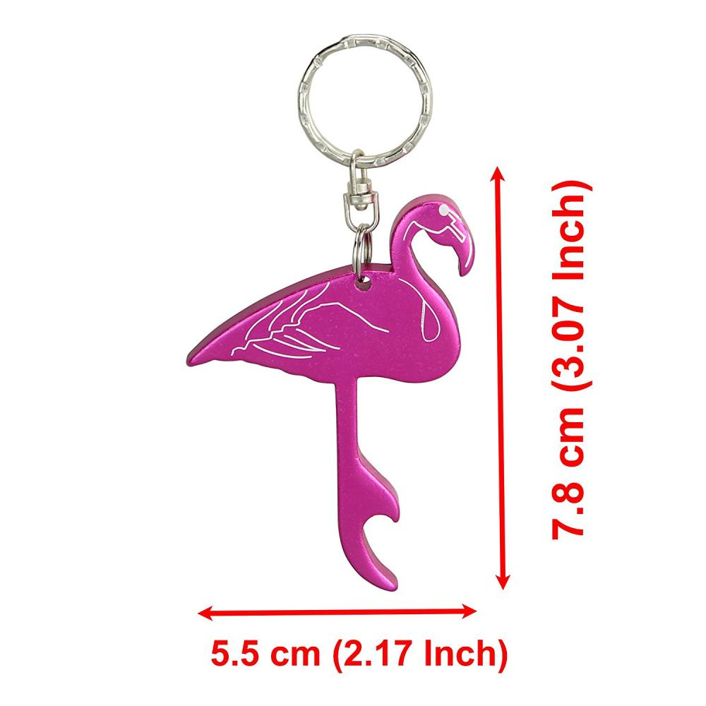 Swatom Flamingo Style Bottle Opener Key Ring
