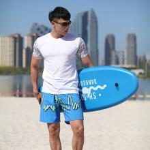 T-shirt pour homme 100% coton, imprimé à l'eau, 150 g / m2