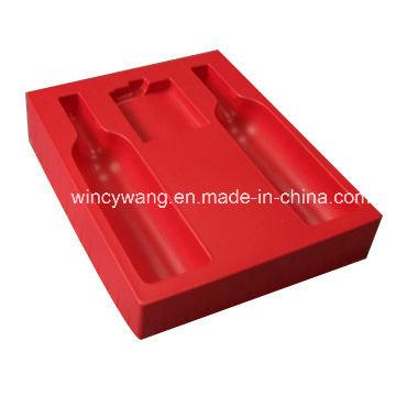 Красные флокирующие пластиковые изделия