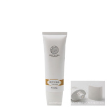 100ml cleanser plastic soft cosmetic packaging tube flat oval