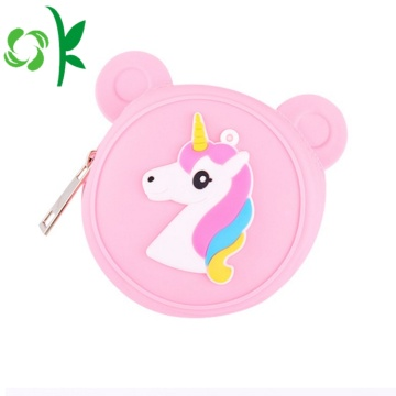 Mooie Cartoon Animal Zip Coin aangepaste siliconen tas