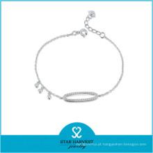 O melhor bracelete de venda das mulheres do fio de prata (B-0022)