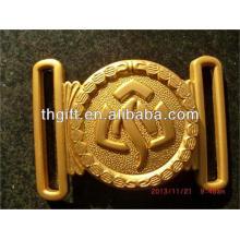 Custom metal belt buckle with Gold plating