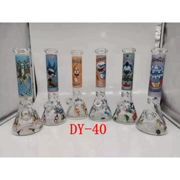 Bongs de bécher en verre de conception multiple