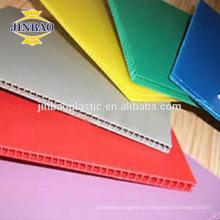 JINBAO 4x8 48 * 96 blanco azul pp plástico portada precio de la hoja