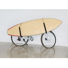 Steel frame surfboard bike rack