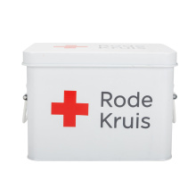 Enamel Metal First Aid Box Empty