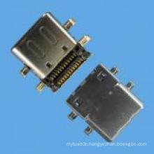 Femaleboard Mount C Type SMT Connector USB 3.1