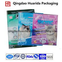 Tiefdruck-Seitenfalten-Plastikverpackenkatzen-Sänfte-Tasche