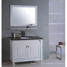 Tocador de baño de madera blanca (B-315)