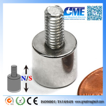 """D3 / 8X3 / 8 """"/ W8-32 Gewindebolzen N42 Neodym-Magnet"""