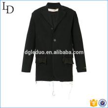 Ausgefranste Details Jacke Mantel Jacke Blazer klassischen Anzug Herren Fitness Jacke