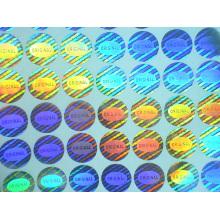 Original benutzerdefinierte hologramm 15 mm runde gefälschte laser aufkleber einmalige verwendung