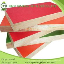 Qualidade excelente 3mm 5mm 9mm12mm 15mm 18mm Contraplacado colorido da melamina para a mobília da fábrica de Linyi Qimeng