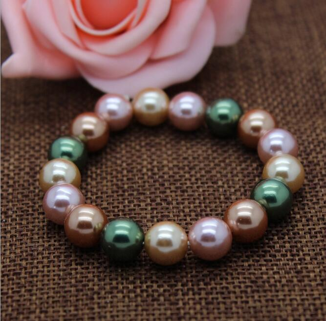colorful shell pearl bracelet