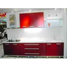 Gloosy Whhite Color Modern Lacquer Kitchen Cabient