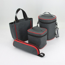 Custom Polyester Aluminium Foil Lunch Insulated Ice Wine Cooler Bags Set