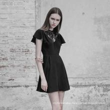 A line new slim elegant gothic lace dresses womens little black dress woman