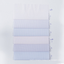 STOCK Check Polyester fabric Anti-wrinkle Shirt Textile