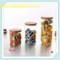 Armazenamento de jar de vidro de alta qualidade feito por vidro de borosilicato de pirex