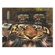100% algodón 40s 133 * 72 reactivo impreso tigre 3d ropa de cama de impresión conjunto