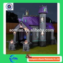 Casa embrujada inflable de la alta calidad halloween con el material de oxford para la venta