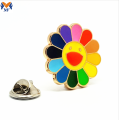 Harde emaille regenboog metalen pin badge