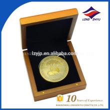 3D custom metal customized antique gold coin with boxes