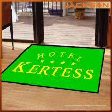 Moda personalizado frente cinco estrelas hotel tapete de borracha