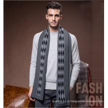 Moda masculina de lã de malha de inverno lenço longo quente (yky4608)