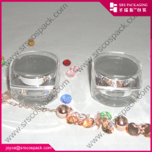 Empty Diamond Shape Mini Acrylic Unique Cosmetic Jar Wholesale