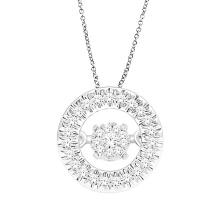 Rose Gold Dancing Diamond Pendants Jewelry 925 Silver Jewelry
