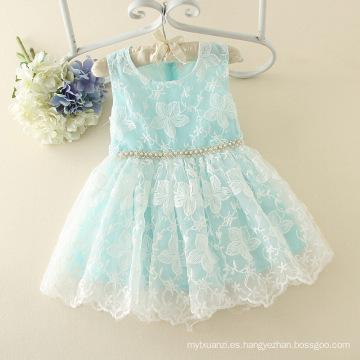 2017 niños del verano que arropan el material del vestido al por mayor en vestido de la muchacha del surat bule