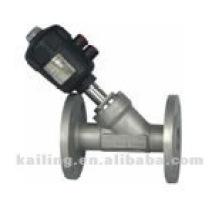angle valve with flange