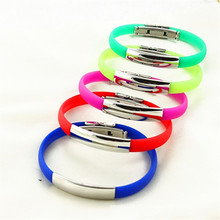 OEM pulseira pulseira de silicone de boa qualidade colorido para venda em estoque