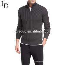 Woolen sweater design 1/4 Zipper turtleneck wool pullover sweater
