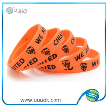 Style cheap magnetic silicon wristband