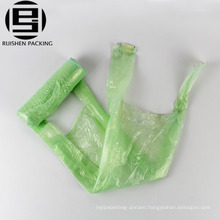 Biodegradable plastic vest handle string garbage bag on roll