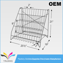 Muti-Pocket Flooring Assembly Wire DVD Display Rack for CD Selling